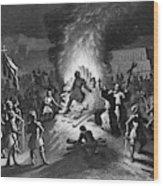 Execution Of Atahualpa Wood Print