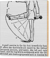 Exercise, 19th Century Wood Print