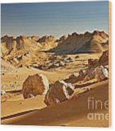 Expressive Landscape With Mountains In Egyptian Desert  Wood Print