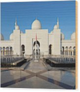 Exterior View Of Sheikh Zayed Grand Wood Print