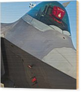 F-22 Raptor Jet Wood Print