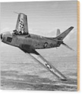 F-86 Sabre, First Swept-wing Fighter Wood Print