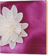 Fabric Flower Wood Print