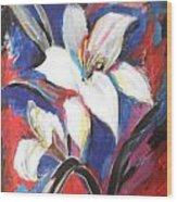 Fair Pure Fragile White Lilies Wood Print