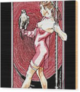 Falcon Queen - Atlanta Falcons Version Wood Print