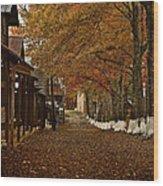 Fall Camp Wood Print
