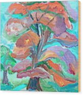 Fall Colors Wood Print by Brenda Ruark