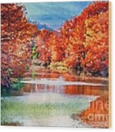 Fall On The Guadalupe Wc Wood Print