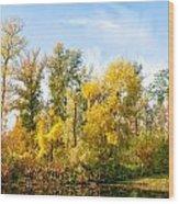 Fall On The Lake Wood Print