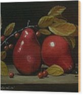 Fall Pear #2 Wood Print