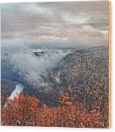 Fall Snow Coopers Rock Wood Print