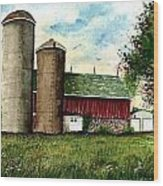 Family Farm Wood Print