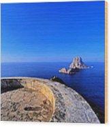Famous Tower Of Savinar On Ibiza Island Wood Print