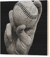Fastball Wood Print