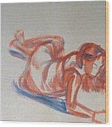 Female Figure Painting Wood Print