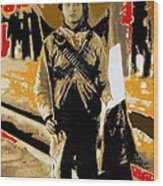 Female Soldier With Mexican Flag  Unknown Location C. 1914-2014 Wood Print