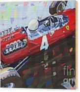 1965 British Grand Prix Silverstone  Lorenzo Bandini Ferrari 158 Wood Print