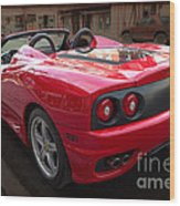 Ferrari 360 Spider Wood Print