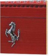 Ferrari Horse Wood Print