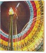 Ferris Wheel Evergreen State Fair Wood Print