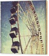 Ferris Wheel In Paris Wood Print