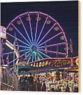 Ferris Wheel Rides And Games Wood Print