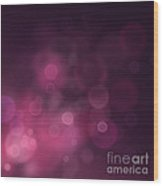 Festive Bokeh Background Wood Print