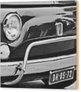 Fiat 500 L Front End Wood Print