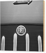 Fiat 750 Mm Zagato Panoramica Coupe Grille Emblem Wood Print