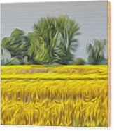 Fields Of Yellow Wood Print