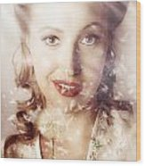 Fifties Beauty In Nature And Natural Light Wood Print