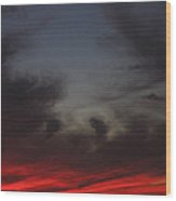 Film Homage Akira Kurosawa Ran 1985 Fiery Clouds Casa Grande Arizona 2004 Wood Print
