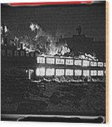 Film Homage Chris Marker La Jetee 1962 Winter Fire Collage Aberdeen South Dakota 1965-2013 Wood Print