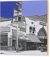 Film Homage Director Allan Dwan Soldiers Of Fortune 1919 Lyric Theater Tucson Arizona 1919-2008 Wood Print