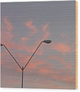 Film Homage George Pal The War Of The Worlds 1953 Parking Lot Lights Casa Grande Arizona 2004 Wood Print