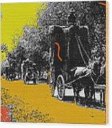 Film Homage Haskell Wexler Days Of Heaven Hay Wagons 1878-2008 Wood Print