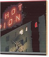 Film Homage Hot Pion 2010 Screen Capture Pioneer Hotel Tucson Arizona Wood Print