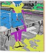 Film Homage Howard The Duck '86 Cowboy Duck Collage La Fiesta De Los Vaqueros Rodeo Tucson '85-'09 Wood Print