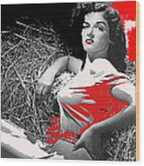 Film Homage Jane Russell The Outlaw 1943 Publicity Photo Photographer George Hurrell 2012 Wood Print