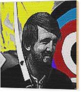 Film Homage The Archers Collage Tom Harmon Aberdeen South Dakota 1965-2008 Wood Print