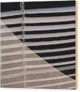 Film Noir Double Indemnity 2 1944 Broken Glass Window Venetian Blinds Casa Grande Arizona 2004 Wood Print