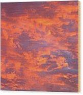 Film Noir Homage Leave Her To Heaven Number 1 Fiery Clouds Casa Grande Arizona 2005 Wood Print