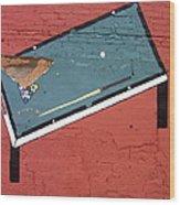 Film Noir Phil Carlson The Phenix City Story 1955 Bar Wall Pool Table Eloy Arizona 2005 Wood Print