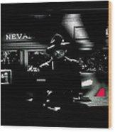 Film Noir Tom Neal Ann Savage Edgar Ulmer Detour 1945 Screen Capture Color Added 2012 Wood Print