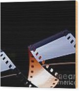 Film Strip Abstract Wood Print by Tim Hester