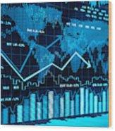 Financial charts Wood Print
