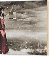 Fine Art Photo Of A Beautiful Winter Fashion Woman Wood Print