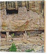 Fire Temple On Chapin Mesa Top Loop Road In Mesa Verde National Park-colorado  Wood Print