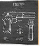 Firearm Patent Drawing From 1897 - Dark Wood Print by Aged Pixel
