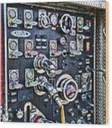 Fireman Control Panel Wood Print
